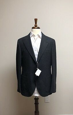 $4000 New Brunello Cucinelli Wool Mohair Cashmere  Blazer Dark Gray Jacket 40 50