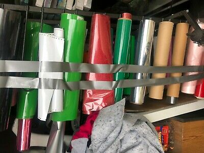 Vinyl Storage Rack HOLDS 44 ROLLS OF VINYL DIGITAL MATERIAL With vinyl