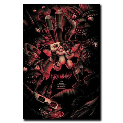 Gremlins 24x36inch 1984 Old Horror Movie Silk Poster Shop Room Decal Large Size