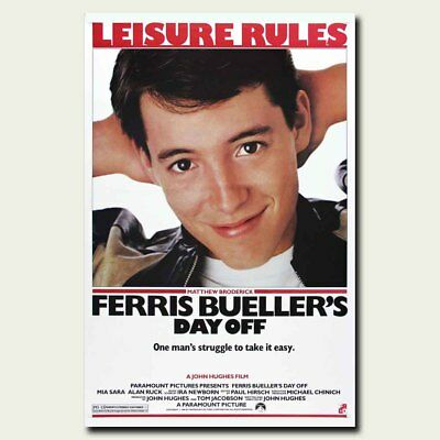 Ferris Bueller 24x36inch Classic Movie Silk Poster Cool Gifts Hot Large Size