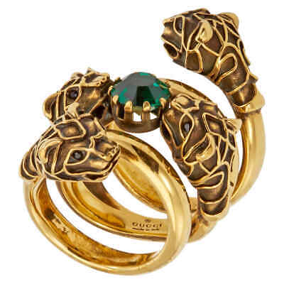 6bdb4360f GUCCI DOUBLE WRAP Ring with Tiger Heads- Size 14 - $313.95 | PicClick
