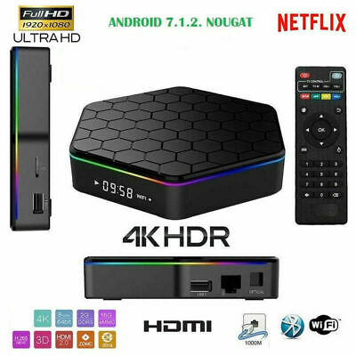 Smart Q5 TV BOX Android 4K ultra HD 4 GB 64g smart tv wifi telecomando andowl Q5