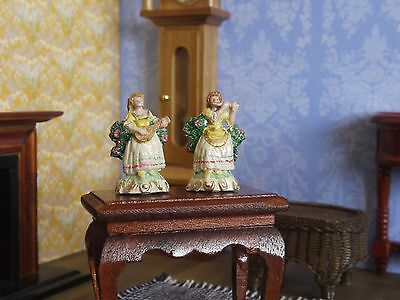 Dolls House 1/12 Hand Painted Pair of Phoenix Metal Female Musicians