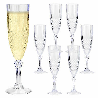 d5509c3b147 Crystal Effect Champagne Durable Plastic Picnic Bbq Wedding Parties Glasses  Cups