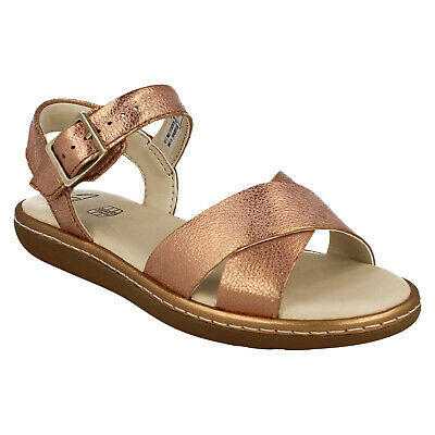 Girls Clarks Skylark Pure K Buckle Junior Casual Flat Summer Party Sandals Size