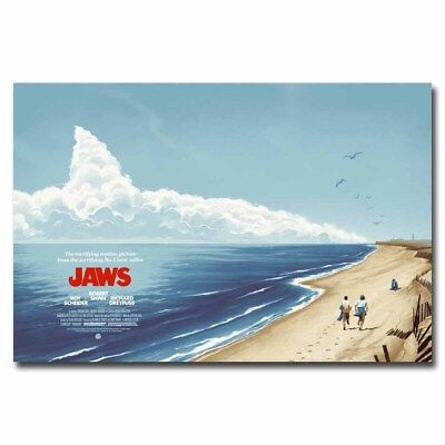 Jaws 12x18 24x36inch Classic Movie Silk Poster Cool Gifts Art Print Wall Decals