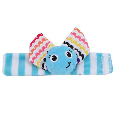 Cute Animal Infant Baby Kids Hand Wrist Bell Foot Sock Rattles Soft Toy shan