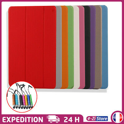 Etui Coque Housse Smart Cover Apple Protection Pour Ipad + Stylet