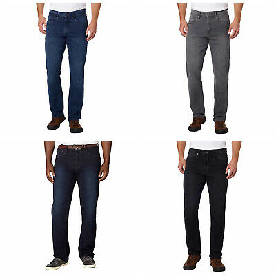 URBAN STAR - Mens Stretch Relaxed Fit Straight Leg 5 Pocket Jeans - 4 Colors-NEW