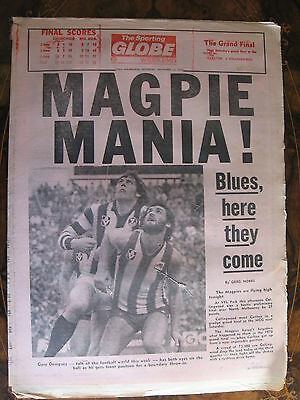 Sporting Globe    Collingwood IN FINALS SEP 22 1979
