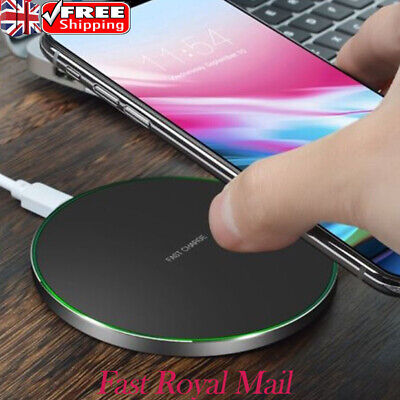 QI Fast Wireless Charger Charging Pad Mat Metal For For Apple iPhone X 10 8 Plus