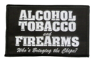 Embroidered Patch Firearms Wax Backed -NRA - Cigars - Alcohol, Tobacco, Firearms