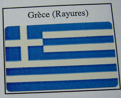 50 Drapeaux adhésifs GRECE GREECE FLAG 37 x 22 mm, lot mini flags auto-collants
