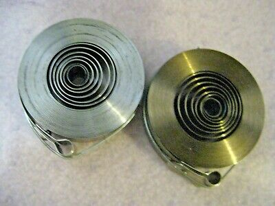 """2 New Clock Mainsprings  3/4"""" x 0.15"""" x 170"""" Loop End 31 Days Replacement Parts"""