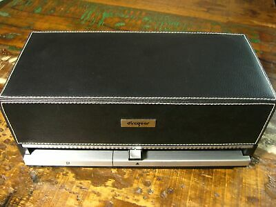 DISCGEAR selector 100 cd dvd game storage organizer case faux leather vintage