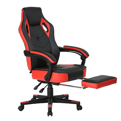 Gaming Chair Swivel High Back Ergonomic Racing Recliner PU Leather Office Seat