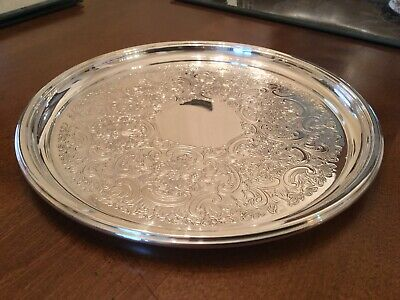 Superb Vintage Barker And Ellis Silver Plated Chased Drinks Tray