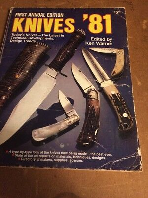 KNIVES '81  FIRST edition  -DBI Publications  Knife Collectors BOOK 1981