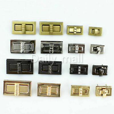 Metal Bag Closure Catch Tuck Lock Clasp Fasteners Leather Craft XS/S/M/L