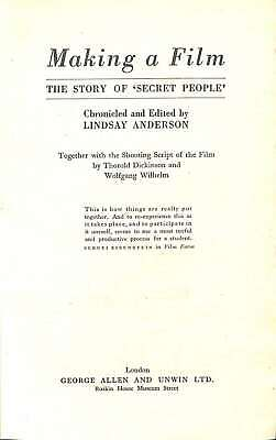 Making a Film, Anderson, Lindsay, Good Condition Book, ISBN