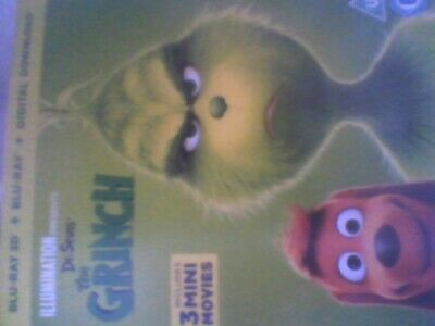 The Grinch (3D + 2D ) [Blu-ray] new sealed with slip case free post
