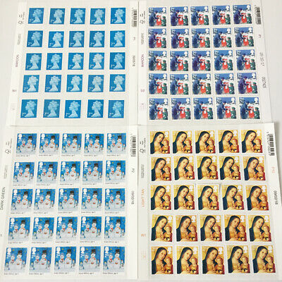 100 2nd Class Unfranked Stamps off Paper WITH ORIGINAL GUM Easy Peel