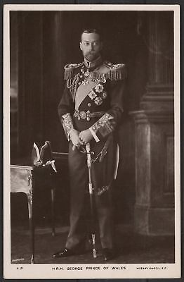 His Royal Highness George Prince of Wales - Real Photo Postcard