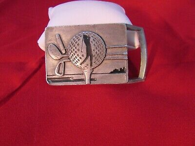 Vintage 1998 dated USA Golf Hobby belt buckle By Sikiou s Ashland Oregon