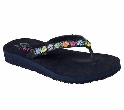 4cb857420dd3 Women s Skechers Flip-Flops - Meditation-DAISY DELIGHT - Navy -  31559 -