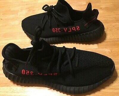 finest selection fbb14 c04c5 ADIDAS YEEZY BOOST 350 V2 Black Red Style Cp9652 Size 11 Us
