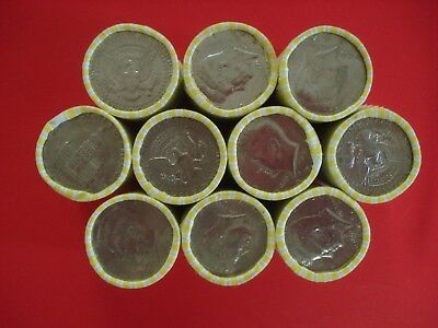 Half Dollar Roll Unsearched Bank Sealed 20 Coins Possible Silver