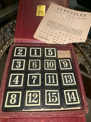 RARE VINTAGE TRAVEL Size Drueke Game, 15 Puzzle, Red Book Vol 107