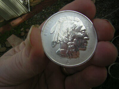 Buffalo Indian Head 1 Troy Oz .999 Fine Silver Liberty Coin Round