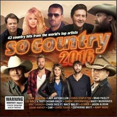 SO COUNTRY 2016 feat Alan Jackson, Jason Aldean, Carrie Underwood 2CD NEW