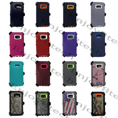 For Samsung Galaxy S7 S7 Edge Bumper Defender Cell Case Belt Clip Fit Otter box