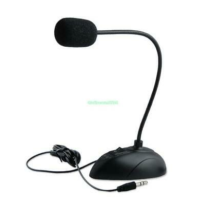 Flexible Gooseneck Desktop Stand Mini Microphone Mic For PC Laptop Notebook MSN