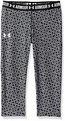Girls Under Armour Printed Capri Tights / Leggings 3/4 Length