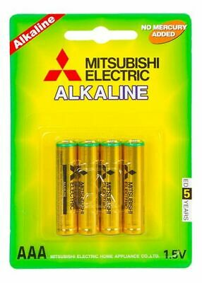 Mitsubishi AAA Alkaline Batteries 4 x Blister Battery Pack