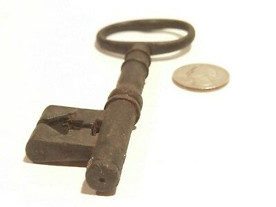 "Antique? Vintage 5"" Steel Gate Door Arrow Ornate Chest Skeleton key"