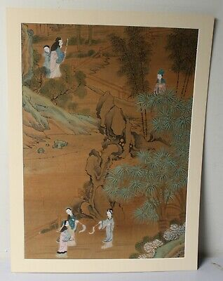 Antiqu. Chinese Water Color Hand Painting On Silk