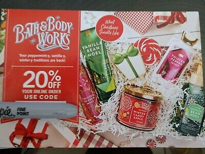 Bath & Body Works 20% Off Your Purchase Online Order Code Expires March 24, 2019