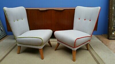 Howard keith style Mid-century cocktail bedroom chairs