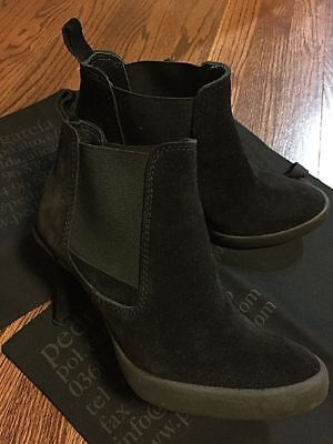 762749acb97b PEDRO GARCIA BLACK Suede Ankle Boots Size 38 w 2 Dust Bags
