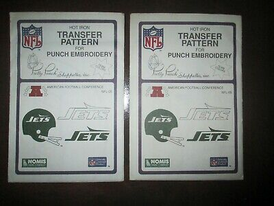 1987 Pretty Punch Iron-on Punch Embroidery Pattern NFL New York Jets