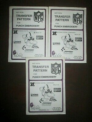 1987 Pretty Punch Iron-on Punch Embroidery Pattern NFL ATLANTA FALCONS