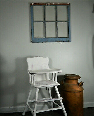 vintage wooden high chair, White farmhouse, shabby chic, Cottage , Baby birthday