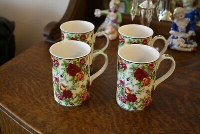 Royal Albert Old Country Roses Afternoon Tea Mugs (Set of 4 - Slightly Used)