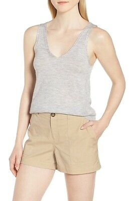 e2a083b032842 Nordstrom Signature NEW Gray Womens Size Large L High Low Tank Top  179 293