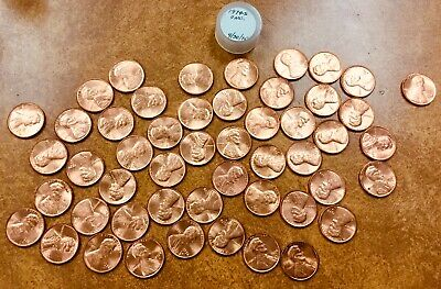 1974-S Lincoln Cent Memorial Penny Roll of 50 BU uncirculated Coins in tube
