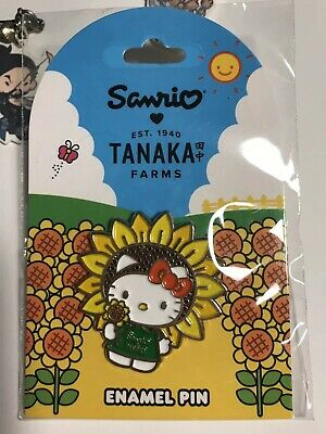 dc8ef35d7 TANAKA FARMS SANRIO Hello Kitty Pumpkin Patch Pin And Sticker ...